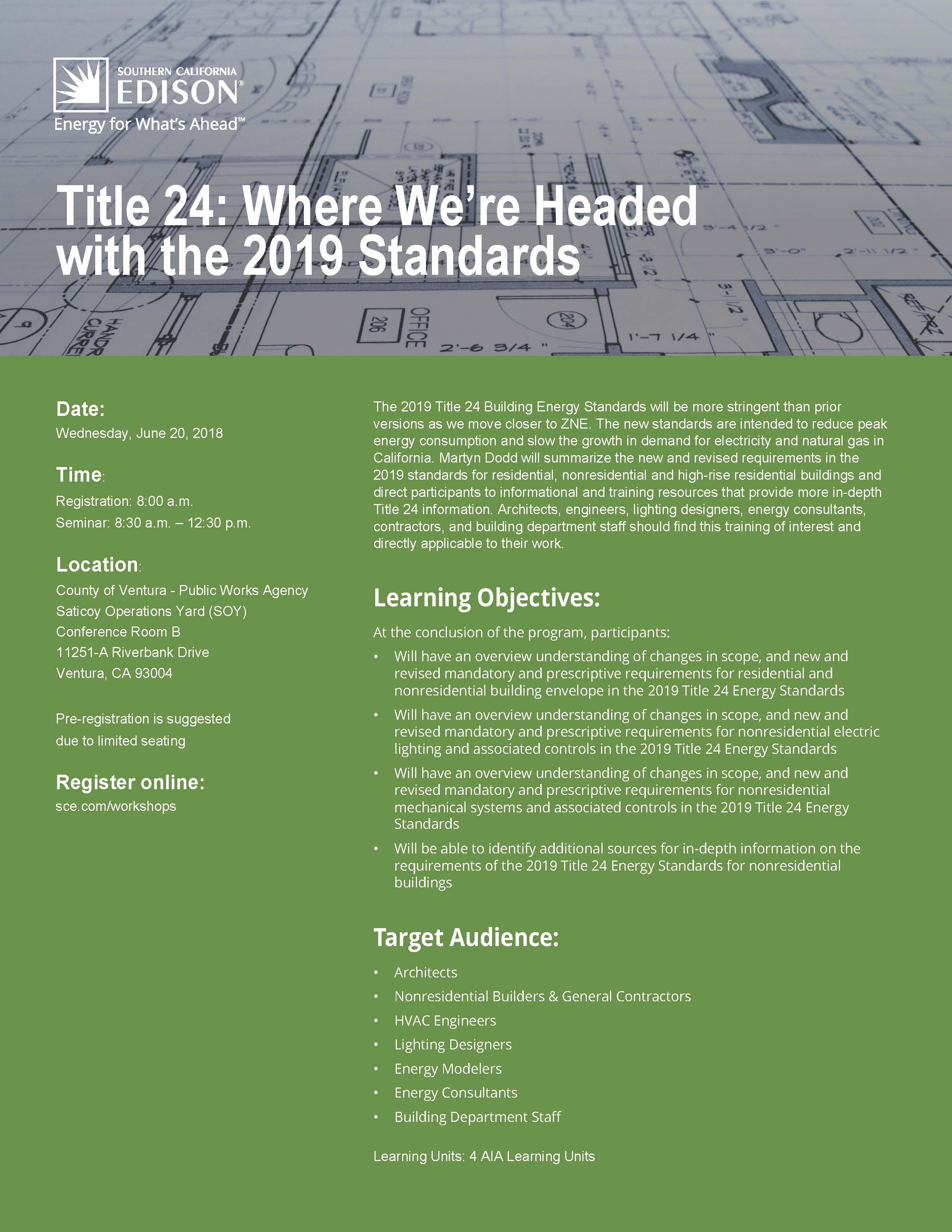 ... Training Resources That Provide More In Depth Title 24 Information.  Architects, Engineers, Lighting Designers, Energy Consultants, Contractors,  ...